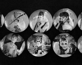 Audrey Hepburn Large Magnet Set