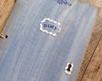 Old Book journal - rustic journal- Junk journal - Diary-Handmade journal