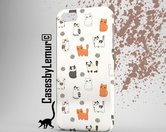 CAT Print Iphone Case Cat Phone Case Cat Iphone 5 Case Cat Iphone 6 Case Cat Pattern Iphone 6 Plus Case Colourful Print Gift for Girlfiend