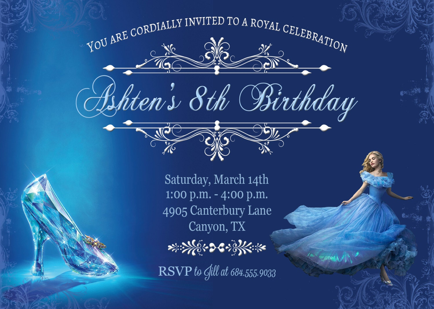cinderella invitation to the ball template - cinderella invitation cinderella party by belleamitiedesigns