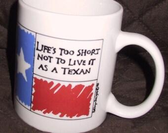 Vintage 1990's Texas Mug