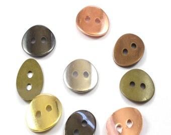 20 pieces Oval  Button For Wrap Bracelets 2mm Hole,Wrap leather Bracelet Clasp