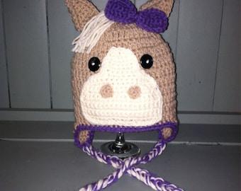Crochet horse hat