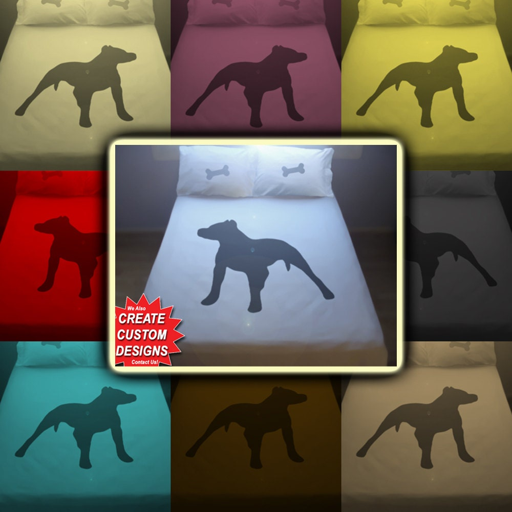 Bull Dog Pitbull Bedding Duvet Cover Queen King Twin Size