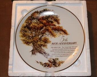 Avon Fifth Anniversary Plate/ The Great Oak
