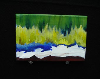 Grassy Waters - Acrylic Painting on Canvas