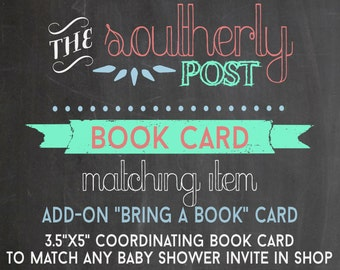 Custom Book Request Card to Match Any Baby Shower Invitation in Shop - Add-On item - Stock the Library - Bring a Book Card