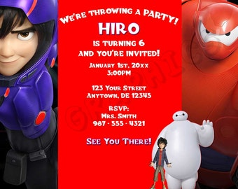 Big Hero 6 Birthday Invitation - Printable