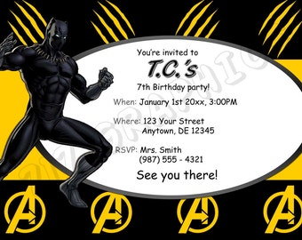 Black Panther Birthday Invitation - Printable