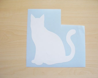 Cat decal, car decal, laptop decal, wall decal, animal sticker