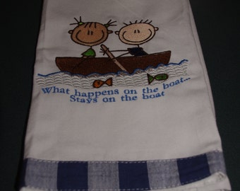 What happens on the boat stays on the boat Hand Towel