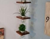 Mason Jar Hanging  Planter 5 Tier 3ft Tall  (Five 8oz Mason Jars Included)