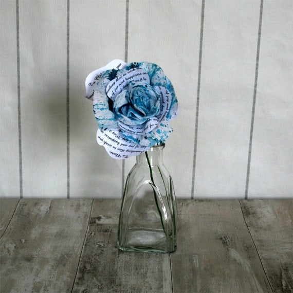 Wedding Gifts For Bride Something Blue : Beautiful Something Blue Wedding Gift For Bride To Be. Single Stem ...