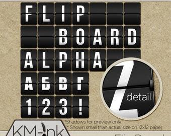 Flip Board Digital Alphabet, Numbers, and Symbols Bundle (Latin/Cyrillic) - 'Флип Боард' Азбука на Латинска и Кирилица