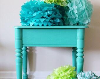 5Large Tissue PAPER POM POMS sets hanging pom poms ball- wedding decorations birthday