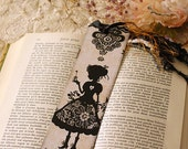 Bookmark - Illustrated bookmark - Book lover - victorian - Miss Shadow - Love