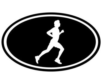 Runner Car Decal Sticker