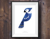 Blue Jay Print - Signed Canadian Wildlife Series - Canada 150