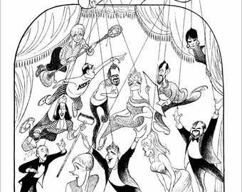 "AL HIRSCHFELD'S ""Putting It Together,"" Hand Signed by Hirschfeld, C of A, Ltd Ed, Cameron Mackintosh, Julie Andrews, Stephen Sondheim, More!"
