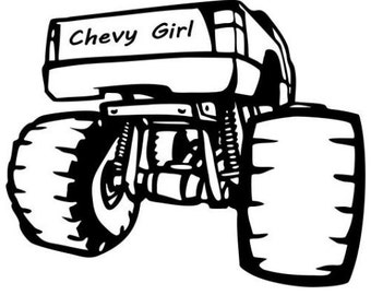 Chevy Girl Vinyl Decal Sticker