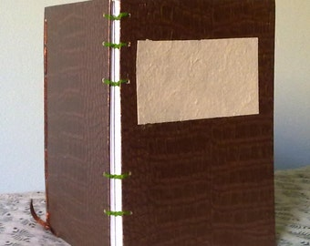 Coptic Stitch Journal - A6 - Sobek - Reptilian Textured Paper Covers