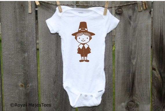 Pilgrim Thanksgiving Onesies®, Baby, toddler, kids, Thanksgiving Shirt