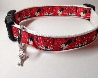 Minnie Mouse Adjustable Dog Collar