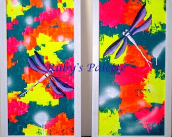 "Spirit of Holi- Original Abstract painting, Acrylic painting, Knife Painting, Modern art on stretched canvas(12""*24""), free shipping, gift"