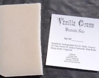 Vanilla Creme Handmade Cold Process Soap