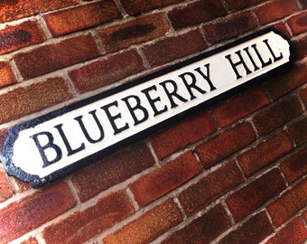Fats Domino Inspired Blueberry Hill Street Sign