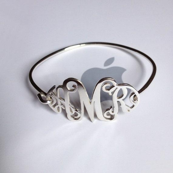 Monogrammed Bracelet Personalized Gift Kids - Teens