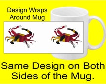 Maryland Crab Coffee Mug (Dishwasher and Microwave Safe)