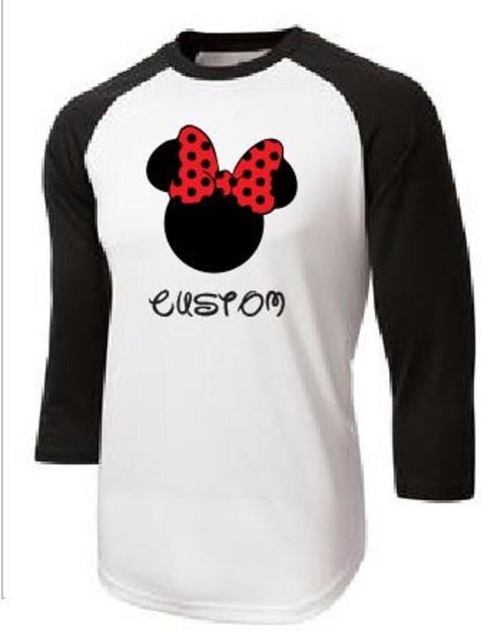 Disney customized printed baseball t shirt by apollouniforms for Custom baseball tee shirts