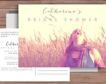 Bridal Shower Invitation - Printable Bridal Shower - - Postcard Invitation - Printable Wedding Invitation - Bridal - 102