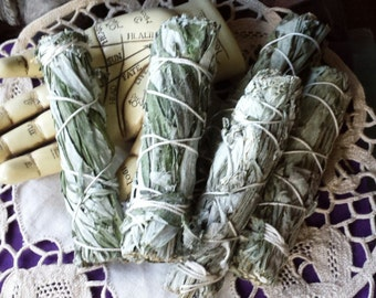 Black Sage and Mugwort Wand, Smudging, Wicca, Witchcraft, Witch, Smudge Wand, Natural Incense, Dream Weed, Mugwort Herb