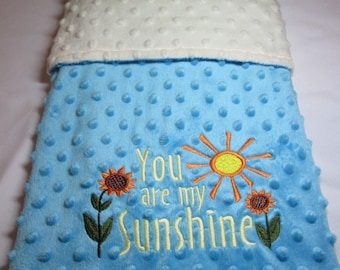 You Are My Sunshine Embroidered Baby Blanket