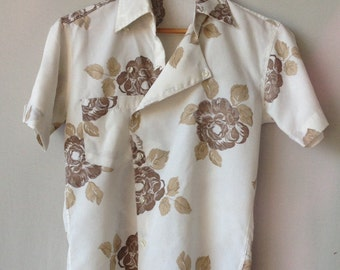 Men's Handmade 1950's Asymmetrical Button Down