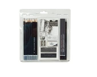 Sketching Pencil Set, 21 Piece Sketching Pencil Set; Royal & Langnickel Artist Set