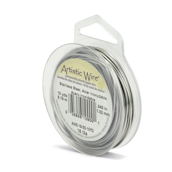 Artistic wire 18 gauge stainless steel 10 yard for Do pawn shops buy stainless steel jewelry