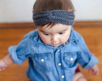 Crochet Baby Turban Headband/Ear Warmer