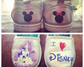 Children's handpainted Disney shoes