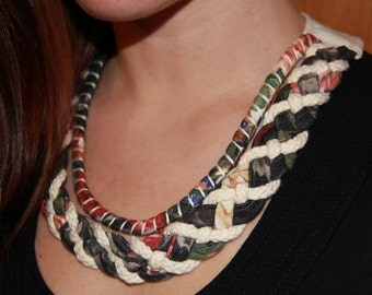 woven necklace