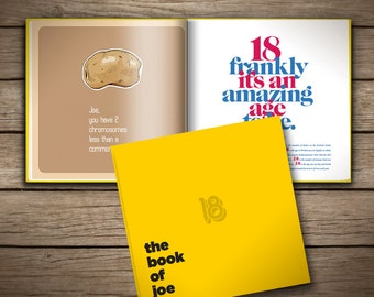 18th Birthday Book of Everyone, personalized gift for your friend, brother, sister, girlfriend and boyfriend