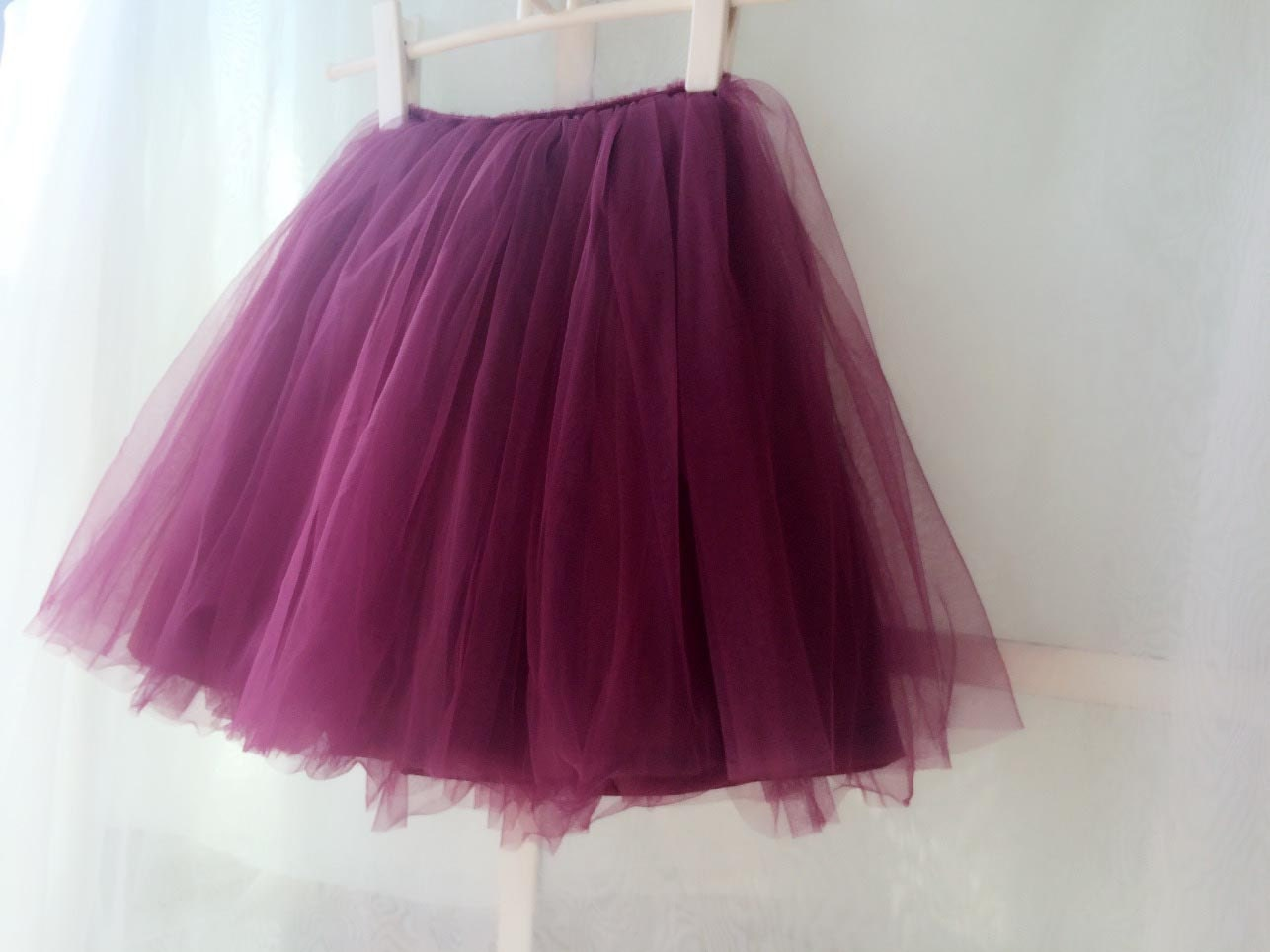 29dde9f8cd Tulle Skirt for flower girl, Mini Tulle Skirt, flower Girls Tulle Skirt ,  Wedding Skirt, little princess -Girls tutu – any color -US4/4T/5/6