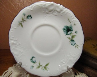 """Small Vintage Saucer - Wawel """"Morning"""" Pattern - Made in Poland"""