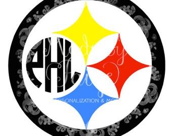 Pittsburgh Steelers Monogram Decal