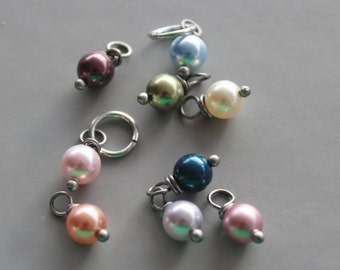 Add a Pearl Drop,Silver or Gold wrapped,Swarkovski Pearls 4mm or 6mm,Personalized Jewelry, Add on Pearl, Build your own, Bridesmaid, Wedding