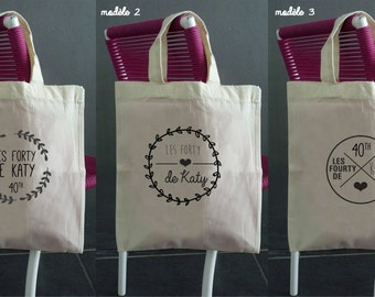PERSONALIZED anniversary cotton bag - 6 models