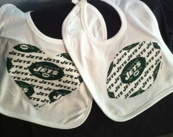 "New York ""Jets"" Baby Bib"