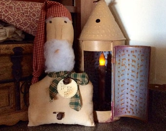 Primitive santa shelf sitter